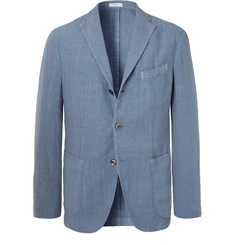 Boglioli - Blue K-Jacket Slim-Fit Unstructured Linen Suit Jacket
