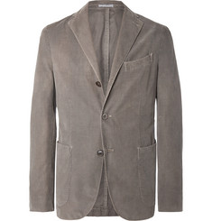Boglioli Mushroom Unstructured Cotton-Corduroy Blazer