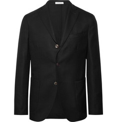 Boglioli Black K-Jacket Slim-Fit Unstructured Wool-Hopsack Blazer