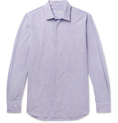 Boglioli Slim-Fit Striped End-on-End Cotton Shirt