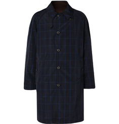 Lanvin Reversible Checked Shell and Cotton-Twill Raincoat