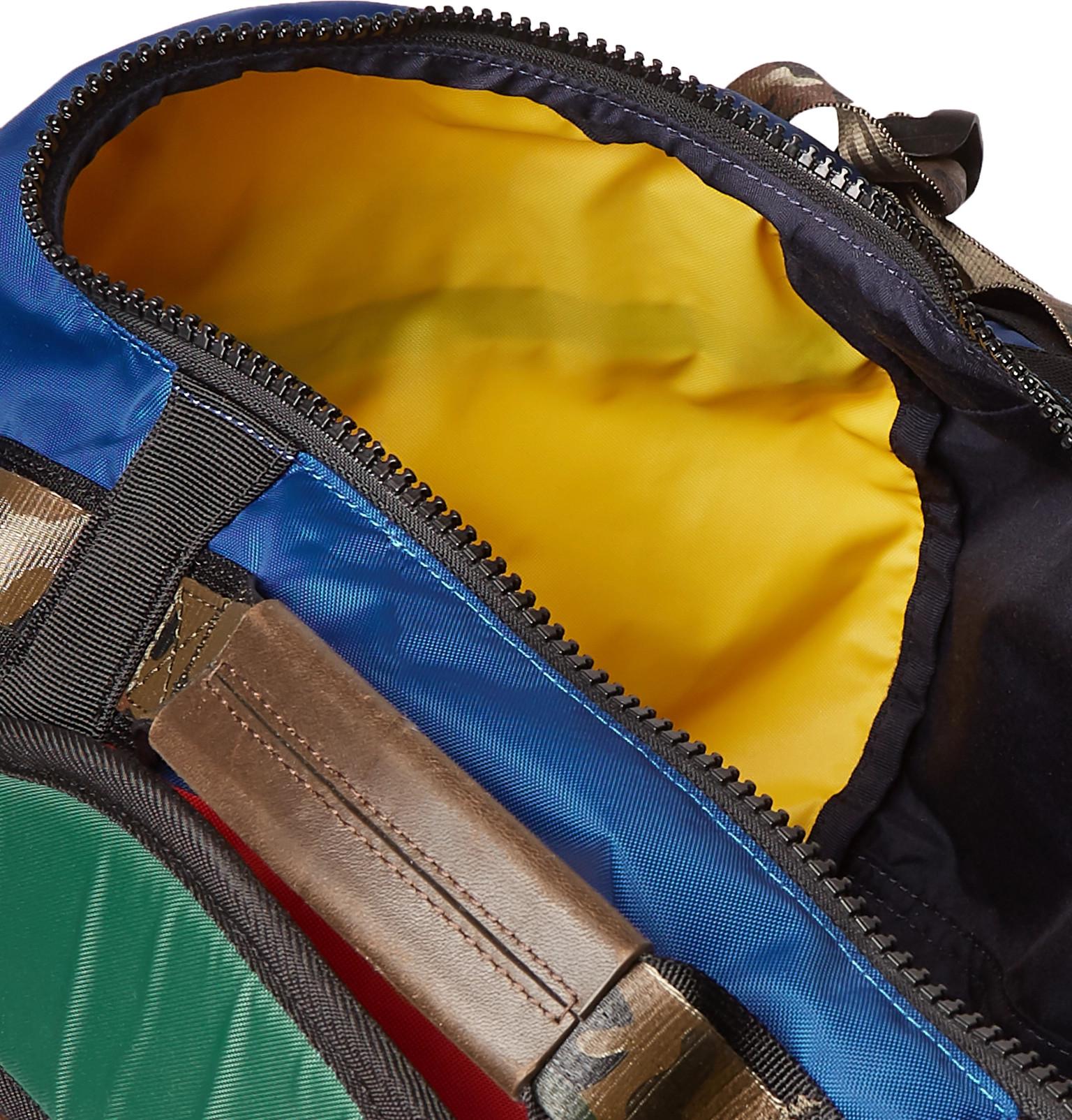 25253e0c0150 Polo Ralph Lauren - Appliquéd Colour-Block Nylon Duffle Bag
