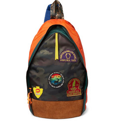 Polo Ralph Lauren Appliquéd Faux Suede and Nylon Backpack