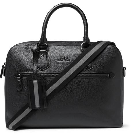 37a9fe6b64e4 Polo Ralph Lauren - Pebble-Grain Leather Briefcase