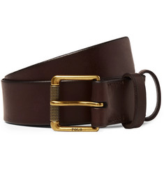 Polo Ralph Lauren 3cm Dark-Brown Leather Belt