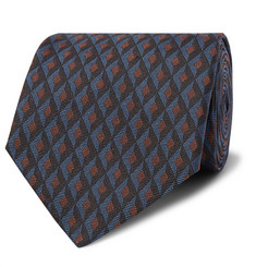 Dunhill 8cm Textured Mulberry Silk-Jacquard Tie
