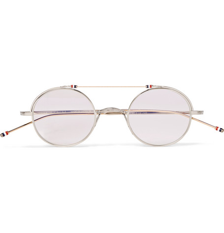 406451da2933 Thom Browne - Round-Frame Gold and Silver-Tone Optical Glasses