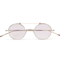 Thom Browne - Round-Frame Gold and Silver-Tone Optical Glasses