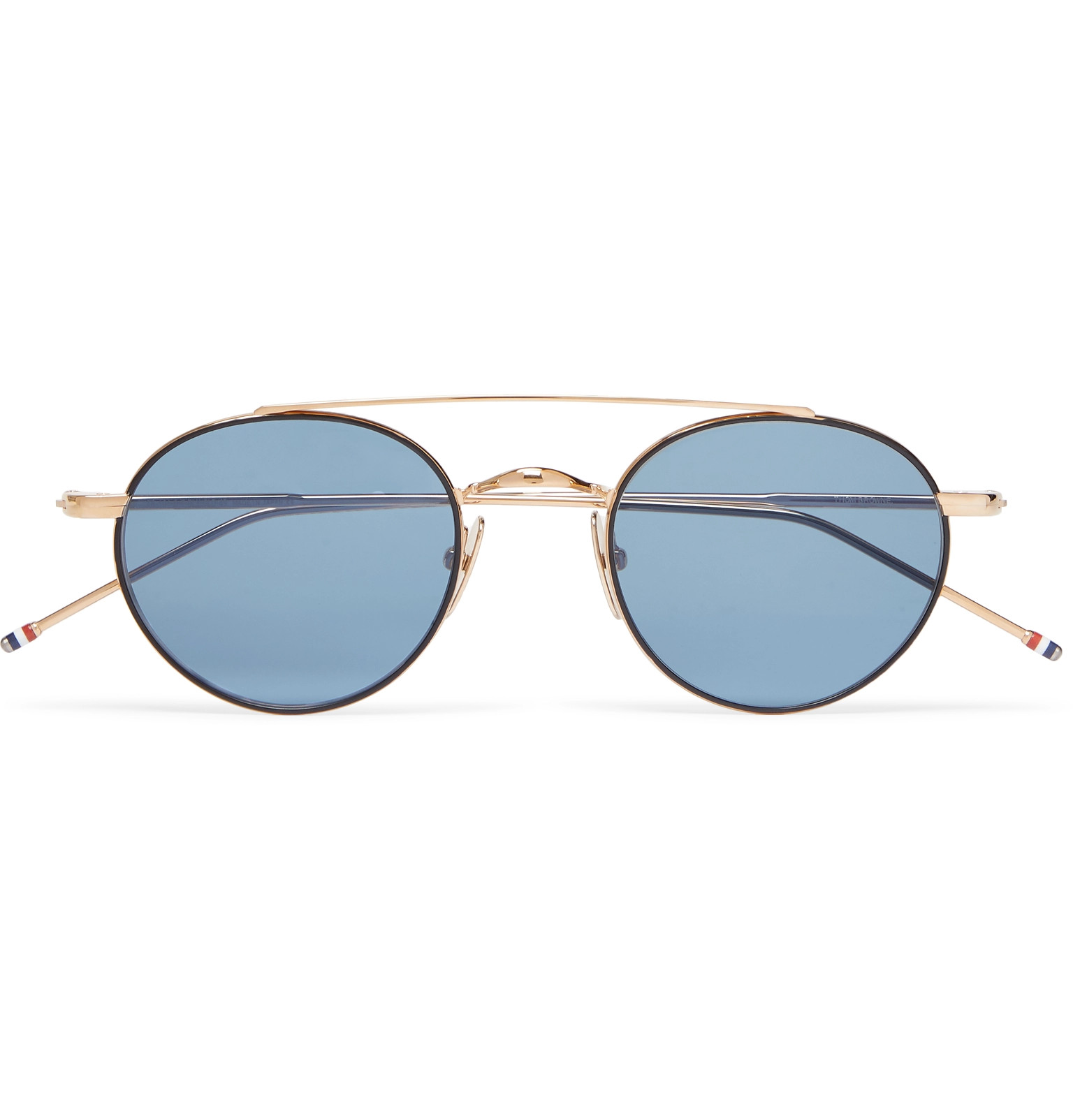 1f40e0ef70a8 Thom Browne - Round-Frame Gold-Tone Sunglasses