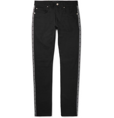 Versace Slim-Fit Logo-Trimmed Stretch-Denim Jeans