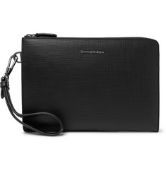 Ermenegildo Zegna Textured Leather Pouch