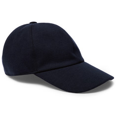 Ermenegildo Zegna Embroidered Cashmere, Cotton and Silk-Blend Baseball Cap