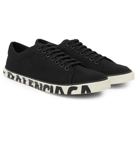 Balenciaga – Match Logo-print Canvas Sneakers – Black