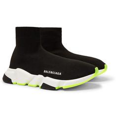 Balenciaga - Speed Sock Stretch-Knit Slip-On Sneakers adde9681c4