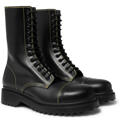 Balenciaga Cap-Toe Leather Boots