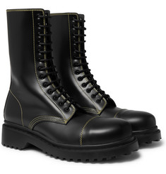 Balenciaga - Cap-Toe Leather Boots