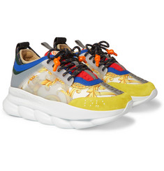 Versace - Chain Reaction Panelled Canvas Sneakers