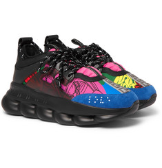 Versace Chain Reaction Panelled Neoprene Sneakers