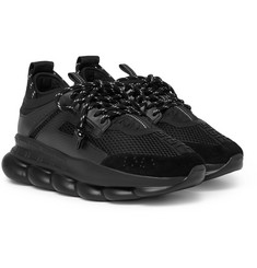 Versace - Chain Reaction Panelled Mesh Sneakers