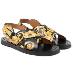 Versace - Printed Leather Sandals
