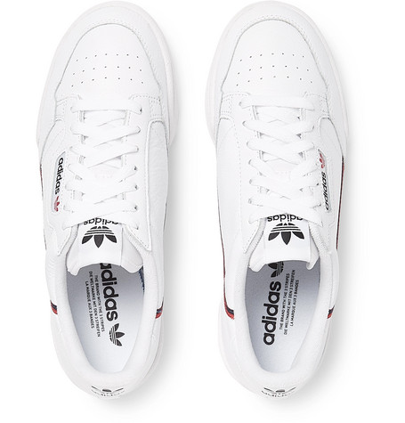 Adidas Originals Sneakers Continental 80 Grosgrain-Trimmed Leather Sneakers
