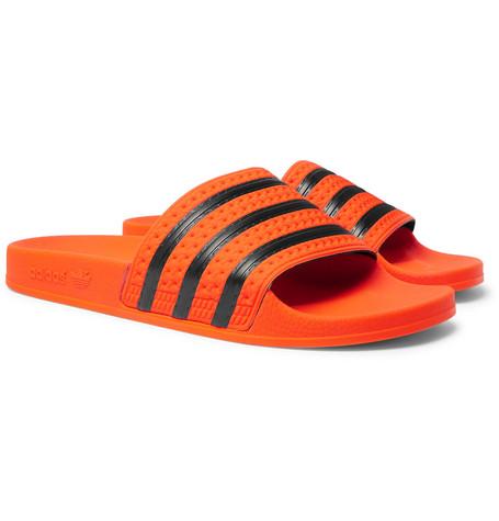adidas Originals – Adilette Textured-rubber Slides – Orange
