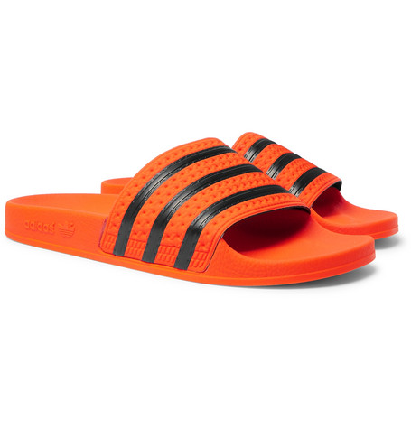 Adilette Textured-rubber Slides - Orange
