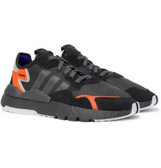 adidas Originals Nite Jogger Suede and Rubber-Trimmed Mesh and Ripstop Sneakers