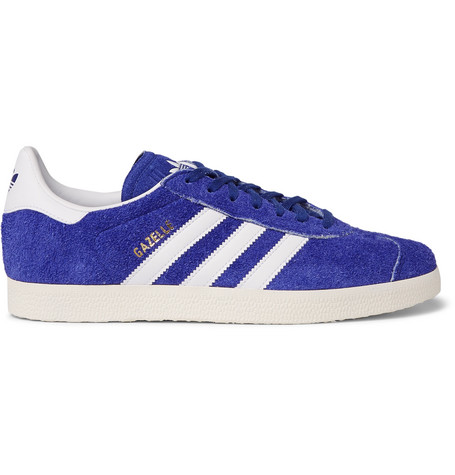 Adidas Originals Gazelle Distressed Suede And Leather Sneakers In ...