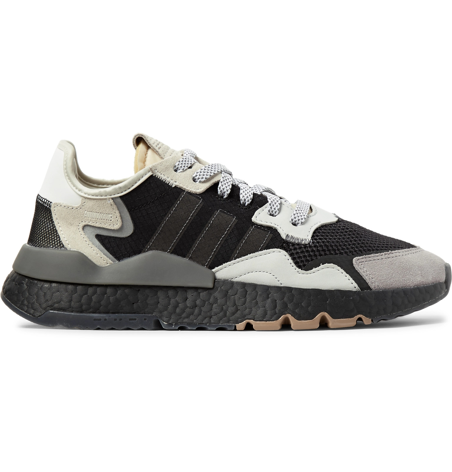 dc2f45f4c4 adidas Originals - Nite Jogger Suede and Rubber-Trimmed Mesh and ...