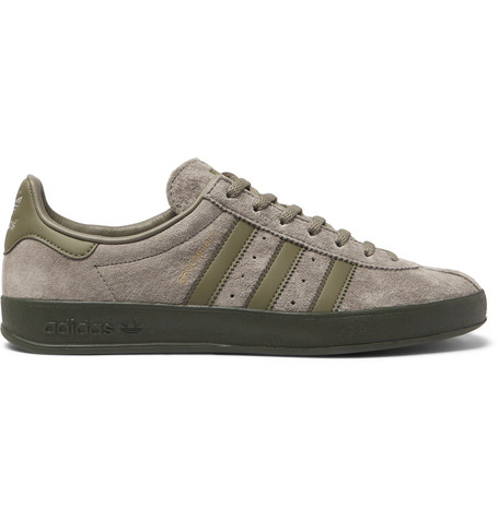 best service 333b5 0604d Adidas Originals Broomfield Leather-Trimmed Suede Sneakers - Green