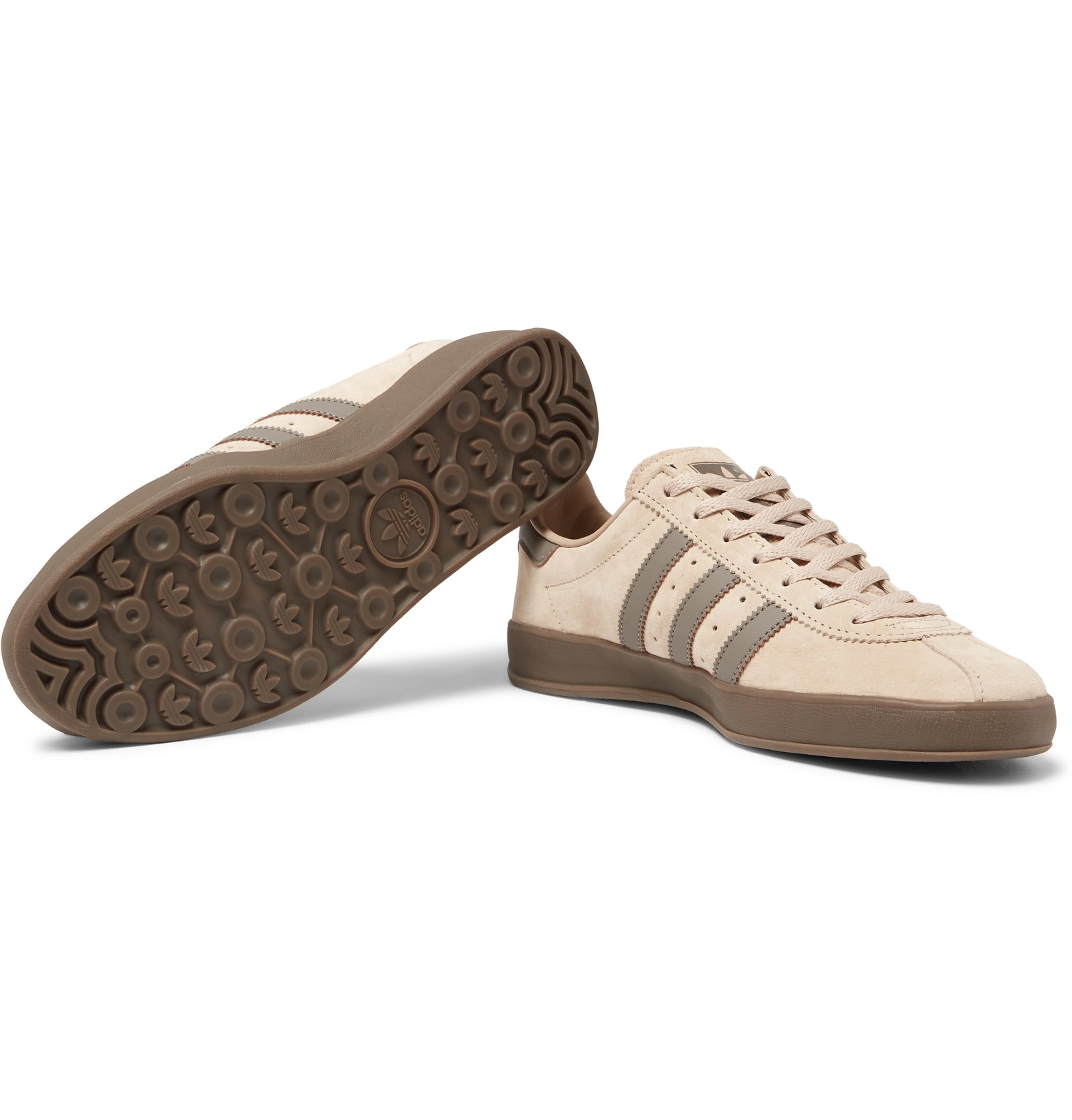 new products f4215 7295a adidas OriginalsBroomfield Leather-Trimmed Suede Sneakers