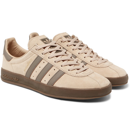 new products 812d9 6eadd adidas OriginalsBroomfield Leather-Trimmed Suede Sneakers