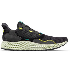 adidas Originals ZX 4000 4D Suede and Rubber-Trimmed Primeknit Sneakers
