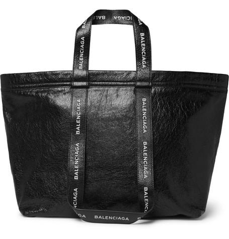 Balenciaga – Arena Logo-print Creased-leather Holdall – Black