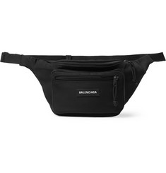 발렌시아가 익스플로러 로고 벨트백 블랙 Balenciaga Explorer Logo-Appliqued Canvas Belt Bag,Black