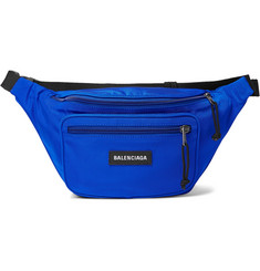 발렌시아가 익스플로러 로고 벨트백 블루 Balenciaga Explorer Logo-Appliqued Canvas Belt Bag,Blue