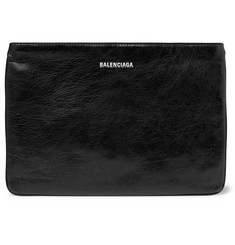 Balenciaga Explorer Creased-Leather Pouch