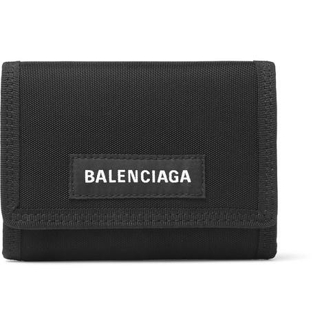 Explorer Canvas Billfold Wallet by Balenciaga