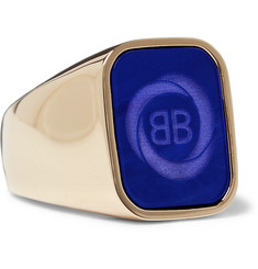 Gold-tone Signet Ring - Gold