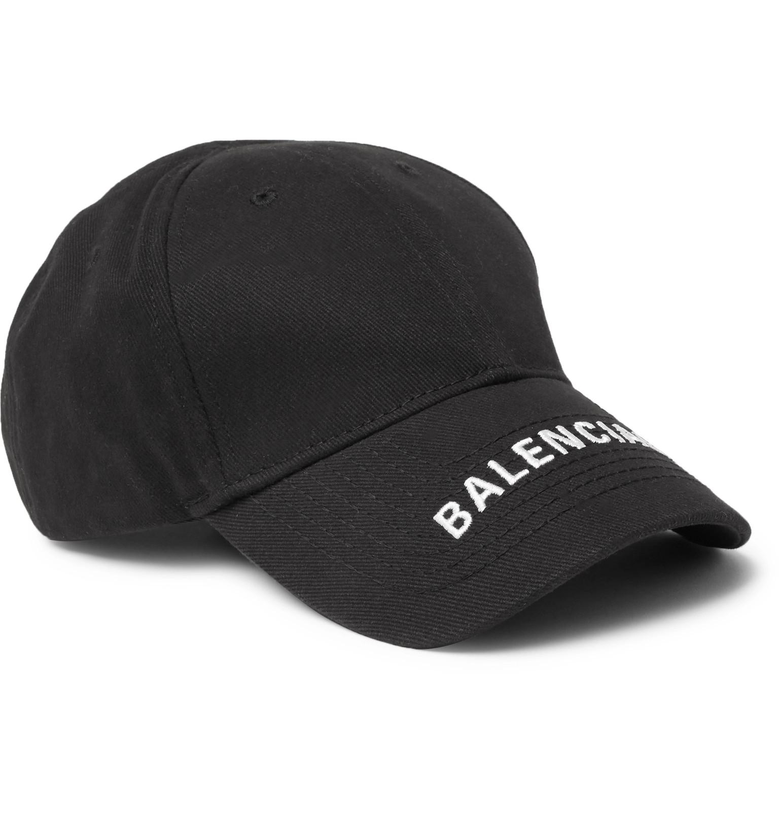 Balenciaga - Logo-Embroidered Cotton-Twill Baseball Cap