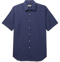Canali Polka-Dot Cotton-Poplin Shirt