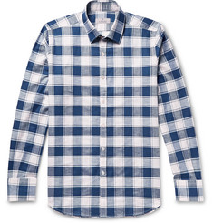 Canali Checked Cotton and Linen-Blend Shirt