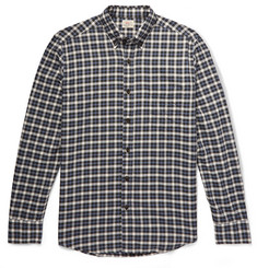 Faherty Pacific Button-Down Collar Checked Organic Brushed-Cotton Shirt