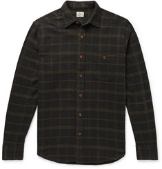 Faherty Seaview Checked Brushed Cotton-Blend Flannel Shirt