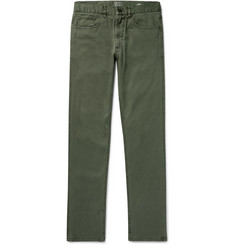 Faherty Slim-Fit Stretch-Cotton Twill Trousers