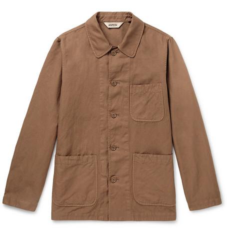 Dyed Linen Cotton Garment Overshirt Blend Aspesi And 6wASxqvZ