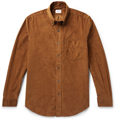 Aspesi - Slim-Fit Button-Down Collar Cotton-Corduroy Shirt
