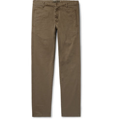 Aspesi Slim-Fit Tapered Garment-Dyed Cotton-Blend Twill Trousers