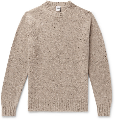 Mélange Slub Wool Sweater by Aspesi